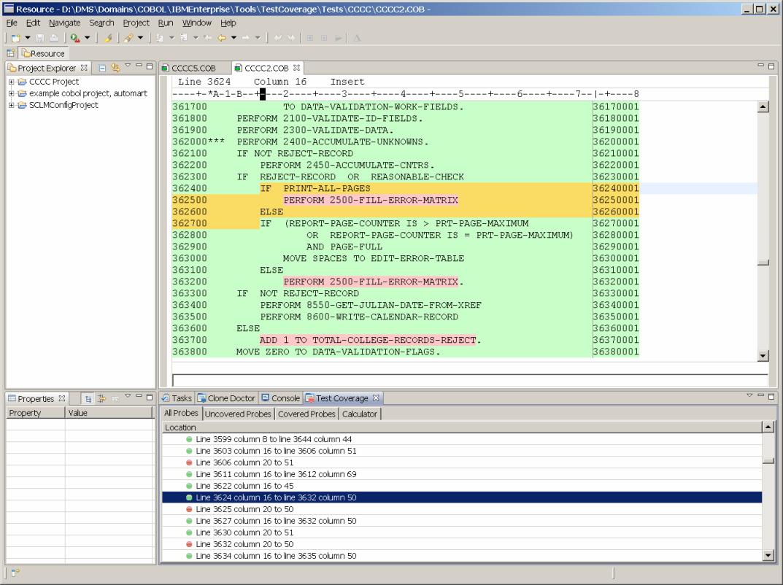 COBOL Test Coverage Tool